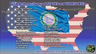South Dakota State Song HAIL, SOUTH DAKOTA with music, vocal and lyrics