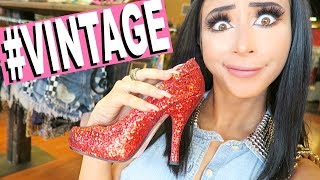 VINTAGE SHOPPING FOR THE FIRST TIME! (a mess lol) thumbnail