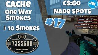 ONE WAY SMOKES EP #17 - 10 ON CACHE   Tutorial CS:GO Nade Spots - Jamiew_