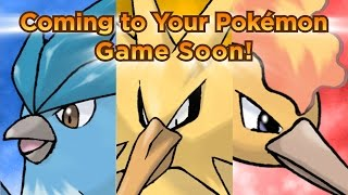 get the legendary pokmon trio articuno zapdos and moltres for your pokmon video game
