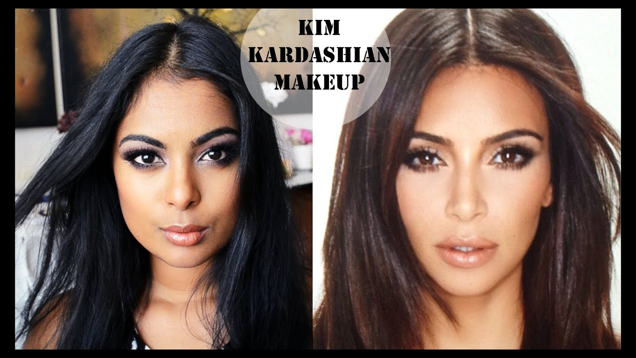 Kim Kardashian Makeup For Dark Skin ( Full Face - Foundation ...