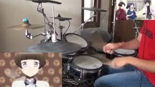 【刀剣乱舞-花丸-】OP 花丸◎日和!(ピッチ上げ)ドラム 叩いてみた