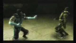 mksm subzero vs reptile boss fight