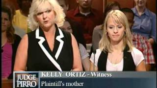 "Mother threatens daughter's ex-boyfriend's ""jewels!"" on Judge Pirro"