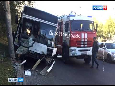 В Ростове на Королева в ДТП попал автобус №83