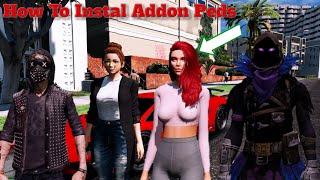 Cara Pasang Mod Skin Karakter di GTA 5 Mudah!!! Tutorial & Instal AddonPeds