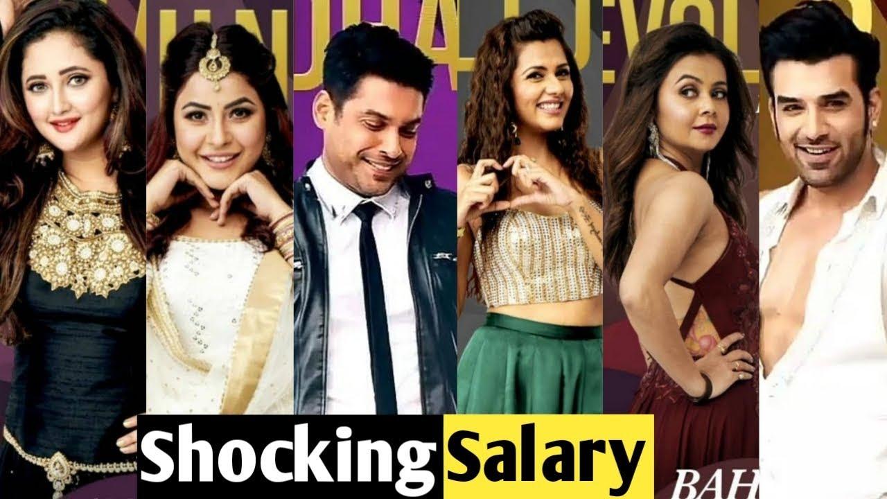 Shocking Salary Of Bigg Boss 13 Contestants Salman Khan Bigg Boss 13
