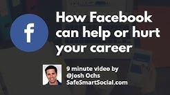 Your Facebook Online Reputation can help or hurt your future