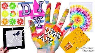 5 DIY Wall Art Projects or DIY Walls Room Decor (tutorial)