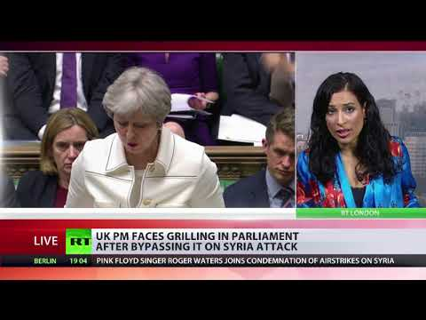 Theresa May answers questions from MPs over Syrian airstrikes