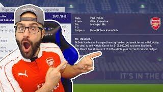 HOLY SH*T WE SOLD KANTE! *$100,000,000* FIFA 18 Career Mode ARSENAL #14