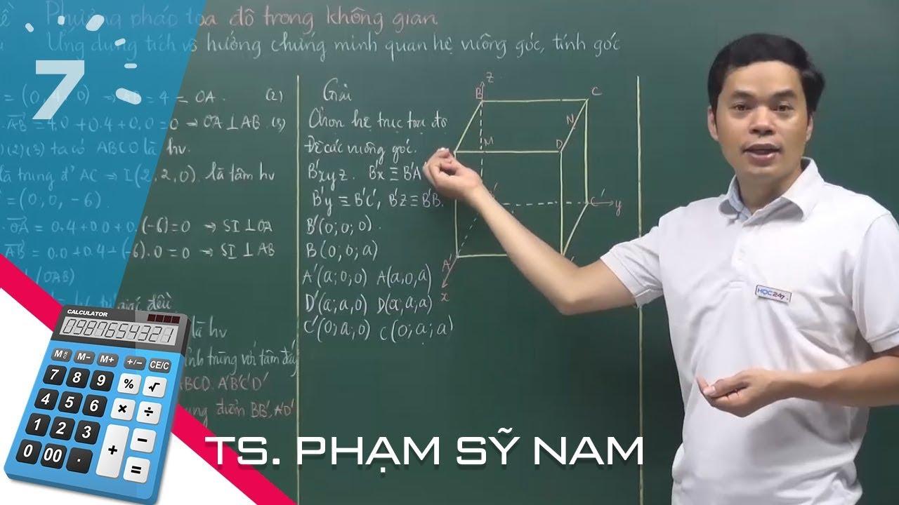 Toán 12 Bài 1: Hệ tọa độ trong không gian | HỌC247