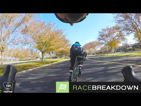 Racing a CRIT with bad fitness (CYCLING RACE BREAKDOWN)