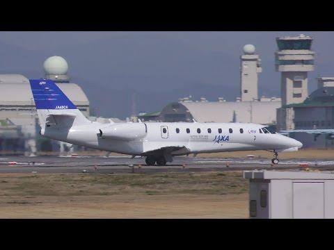 宇宙航空研究開発機構 Cessna 680 Citation Sovereign(JA68CE) 県営名古屋空港 2016年3月17日