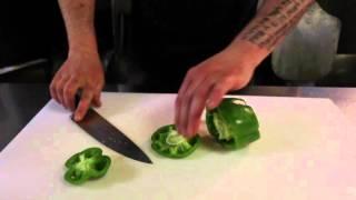 Learn to cut a bell pepper fajita-style