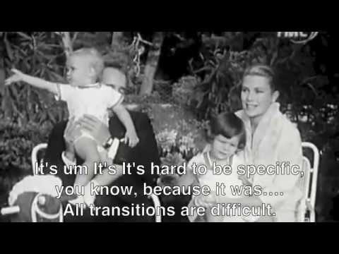 Princess Grace and Prince Rainier with children-English subtitles