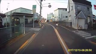 ドラレコ映像 ノーヘルで走る読売新聞配DQN達員 thumbnail