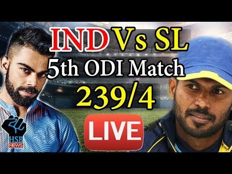 LIVE Cricket Score: IND VS SL 5th ODI, India Beat Sri Lanka By 6 Wickets