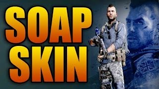 Call of Duty: Ghosts - Soap Mactavish Legend Pack! Weapon Camo + Character Skin (Ghost DLC Gameplay)