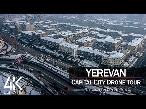 【4K】¼ HOUR DRONE FILM: «Yerevan - Armenia» 🔥🔥🔥 Ultra HD 🎵 Chillout Music (2160p Ambient UHD TV)