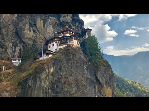 BHUTAN TRAVEL, HIKING UP TO TIGER'S NEST, PARO TAKSANG