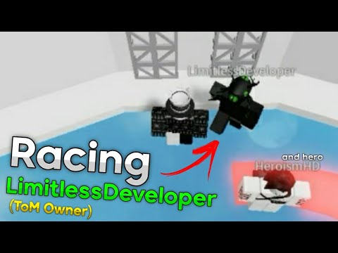 Racing The OWNER/CREATOR Of Tower of Misery..   Roblox