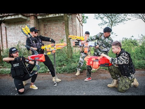 LTT Nerf War : SEAL X Special Task Use skill MEGA Nerf Guns Fight Group Of Dangerous Fools
