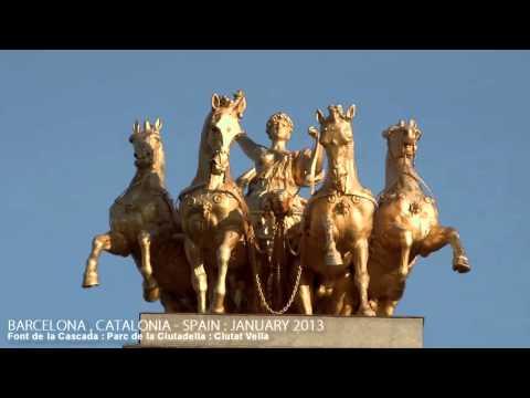 BARCELONA , CATALONIA , SPAIN   A WALKING TRAVEL TOUR   HD 1080P