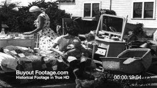 HD Stock Footage Homeless Family Faces Eviction 1930's Newsreel