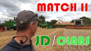 Moissonneuse : le Match JD / Claas