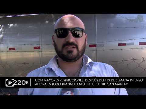 Reina la tranquilidad en el Puente San Martín al regir las nuevas medidas del gobierno