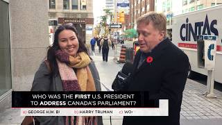 Who was the first U.S. President to address Canada's Parliament? | Outburst