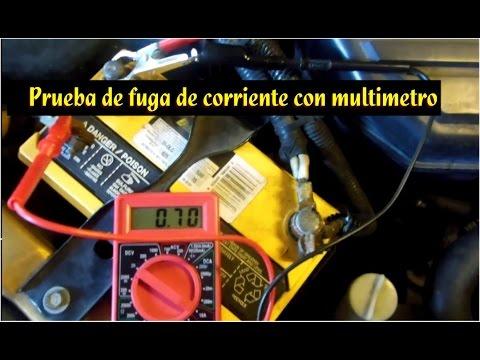 Prueba de fuga de corriente en el auto (con multimetro)