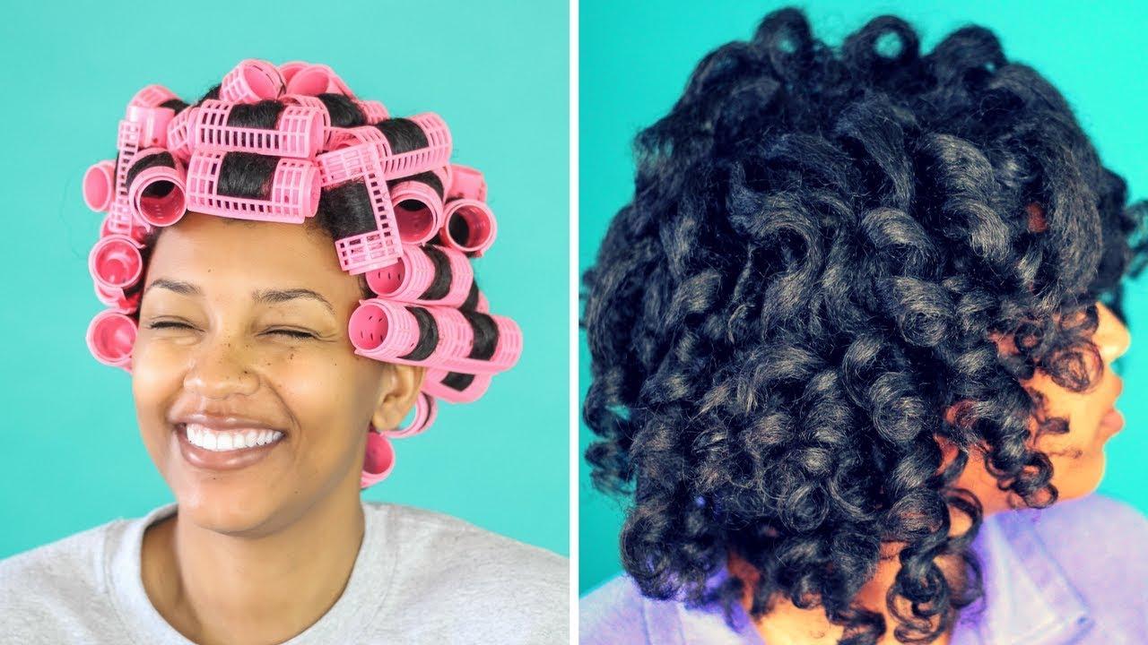 Magnetic Roller Set On Natural Hair Honestlyerica Youtube