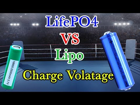 LifePO4 VS Lipo Charge Voltage