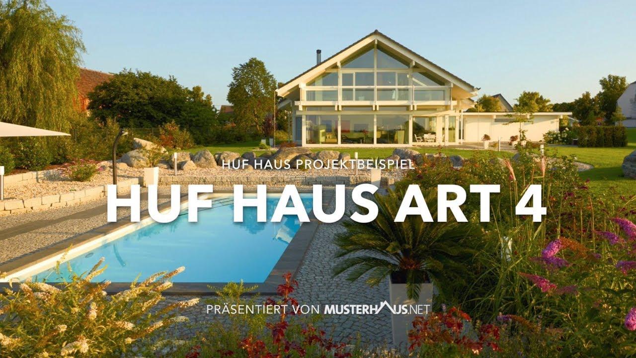 HUF Haus Art 4 - Projektbeispiel 2 - Modernes Fachwerkhaus - YouTube
