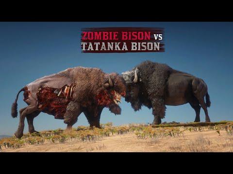 ZOMBIE Bison vs TATANKA Bison | Speed Test | in Red Dead Redemption 2 PC |