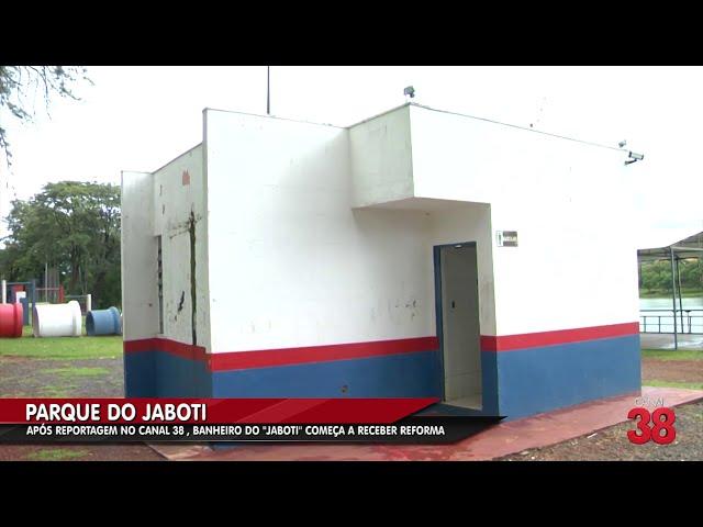 APÓS REPORTAGEM NO CANAL 38 , BANHEIRO DO ''JABOTI'' COMEÇA A RECEBER REFORMA