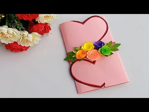 A Beautiful Anniversary card idea | How to make anniversary card at home