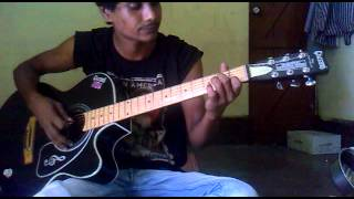 ekla ghar by fossils intro guitar cover pluckin