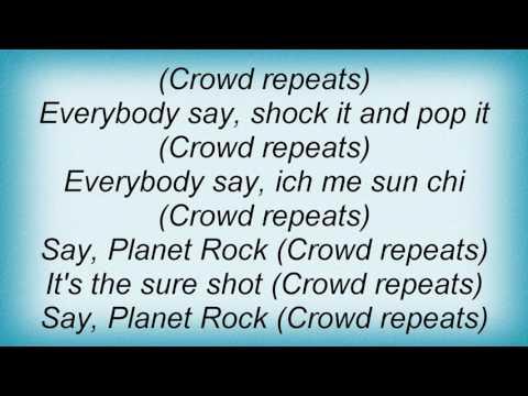 Afrika Bambaataa - Planet Rock Lyrics