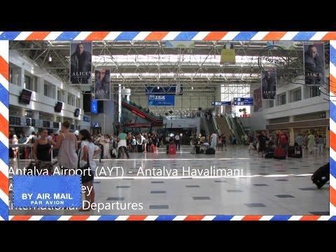 Inside Antalya Airport, Turkey - International departures area - AYT