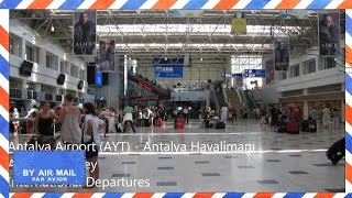 Inside Antalya Airport, Turkey - International departures area - AYT(This is a short video showing a little of the atmosphere at Antalya Airport (IATA Airport Code: AYT), located 13 kilometers to the north east of the Antalya City ..., 2014-02-26T18:52:56.000Z)