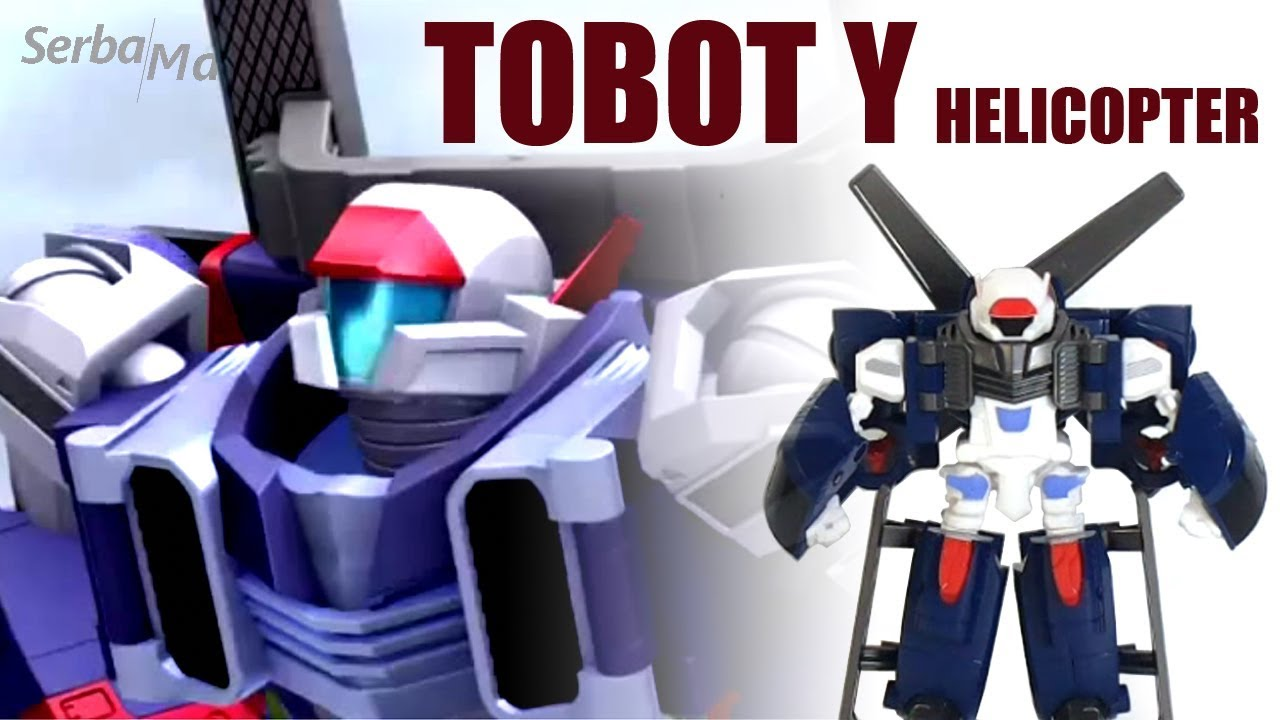 Mainan Tobot Mini Y Helicopter Robot Toy Review Mainan Anak Young