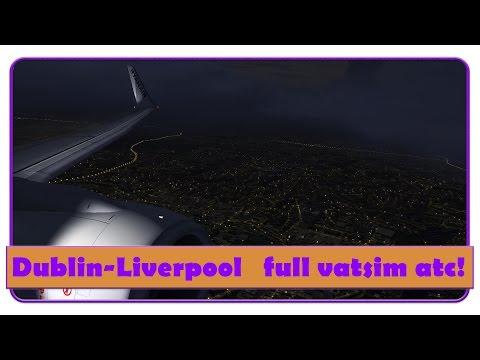 [FSX]RYR39AU | Ful Vatsim ATC! | Dublin-Liverpool | Go-Around | NGX | Sunset Departure |