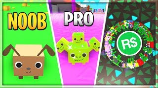 NOOB Vs PRO Vs ROBUX SPENDER  Pet Simulator
