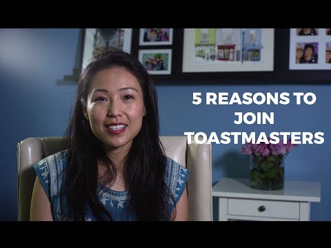 Top 5 reasons to join Toastmasters