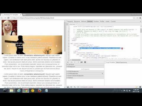 Responsive Web Design - Editing HTML In Chrome