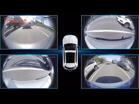 Universal 360 Degree Panoramic Camera Car Parking Assistant System With 4 180 Degree Camera