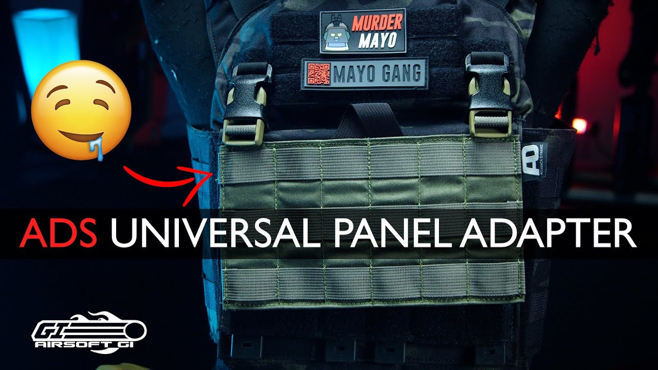 TURN ANY PLATE CARRIER MODULAR! - Advance Dynamic System Universal Panel Adapter   Airsoft GI